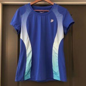 Fila Women's Shirt Blue Size L Blue